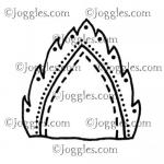 Joggles Cling Mounted Rubber Stamp - Leaf #3 [33647]