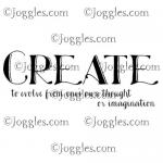Joggles Cling Mounted Rubber Stamp - Definition - Create [33653]