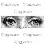 Joggles Cling Mounted Rubber Stamp - The Gaze [33654]
