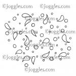 Joggles Cling Mounted Rubber Stamp - Background Noise - Paisley & Circles [33661]