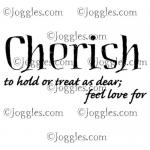 Joggles Cling Mounted Rubber Stamp - Definition - Cherish [33663]