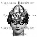 Joggles Cling Mounted Rubber Stamp - Abigail With Goggles & Hat [33665]