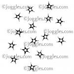 Joggles Cling Mounted Rubber Stamp - Background Noise - Spark [33667]