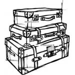 Stampotique Originals - [10011O] Stacked Suitcases