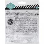 Heidi Swapp Mixed Media Clear Stamps - Music Notes [1144]