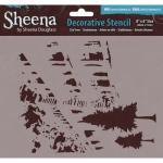 Sheena Douglass Decorative Stencil - City Trees