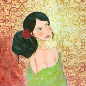 1.2.3 Grenouilles Art Card - Sabbio B [CP202] Rosa Sinensis