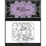 Paper Parachute Cling Rubber Stamp - Butterfly Vine [UMCS-966]