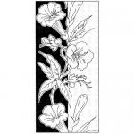 Paper Parachute Cling Rubber Stamp - Floral Strip [UMCS-208]