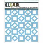 """Clear Scraps 6"""" x 6"""" Stencil - Retro Squares"""
