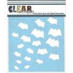 "Clear Scraps 6"" x 6"" Stencil - Bats"