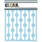 "Clear Scraps 6"" x 6"" Stencil - Bulb Strings"