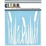 "Clear Scraps 6"" x 6"" Stencil - Cattails"