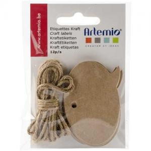 Artemio Tags with String - Speech Bubble