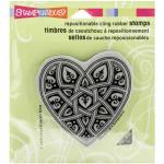 Stampendous Cling Rubber Stamps - Gothic Heart [CRQ209]