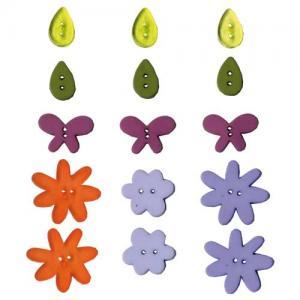 Artemio Button Assortment - Flowers [6563]