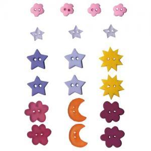 Artemio Button Assortment - Flower & Star [6566]