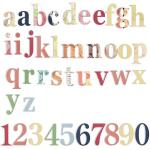 7 Gypsies Chipboard Letters & Numbers - Victoria [17830]