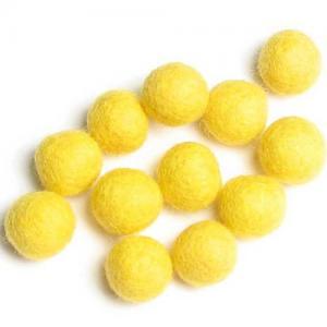 HandBEHG Wool Felt Balls - 2CM [Lemon Drop]