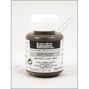 Liquitex Soft Body Acrylic 2 oz. Jar - Transparent Burnt Umber [2002130]