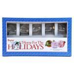 "Glass Christmas Ornaments - 1 7/8"" Egg [2614-27]"