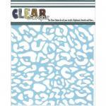 """Clear Scraps 6"""" x 6"""" Stencil - Cheetah"""