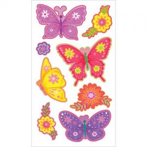 EK Success Sticko Plus Stickers [40032] Layered Colorful Butterflies
