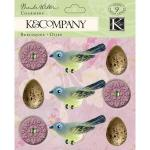 K & Company Flora & Fauna by Brenda Walton - [599475] Egg and Flower Charmers