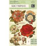 K & Company Engraved Garden - [30-619104] Floral Grand Adhesions