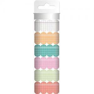 Hazel & Ruby Scallop Washi Tape - Colorful Ledgers [WT358]