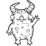 Stampotique Originals - [4033N] Waving Spotted Monster