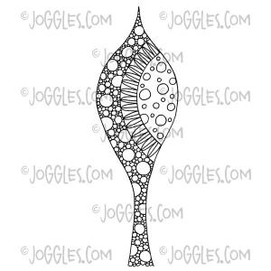 Joggles Cling Mounted Rubber Stamp - Jurassic Leaves™ #5 [56808]