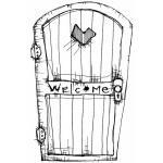 Stampotique Originals - [6095W] Welcome Door