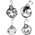 Stampotique Originals - [6154R] Christmas Ornaments Cube