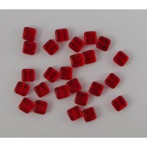6mm Small Flat Square Beads - [9008] Siam Ruby