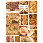 Joggles / Altered by Design Collage Sheets - Maps Of Gold