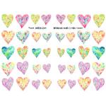 Joggles Collage Sheets - Watercolor Hearts II Minis [JG401087]