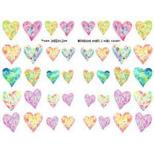Joggles Collage Sheets - Watercolor Hearts II Minis [JG401087]