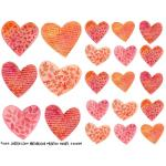Joggles Collage Sheets - Watercolor Printed Hearts [JG401089]