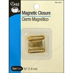 Dritz Magnetic Closure - [761-231] Square, Gold