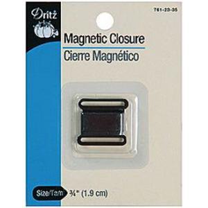 Dritz Magnetic Closure - [761-2335] Square, Black