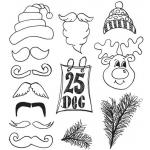 Dylusions Unmounted Rubber Stamps - Christmas Accessories [DYR35800]