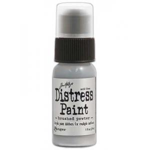 Tim Holtz Distress Paint - Brushed Pewter