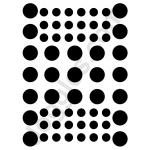 Joggles Stencils - Dotted Grid [10-33727]