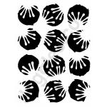 Joggles Stencils - Grunge Circles With Star Flowers [10-33728]
