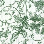 Paper Napkins - Winter Toile Green [L440620]