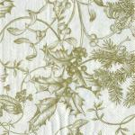 Paper Napkins - Winter Toile Cream/Gold [L440669]