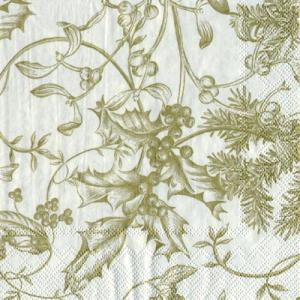 Paper Napkins - Winter Toile Cream/Gold [L440669]