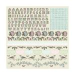 KaiserCraft Bonjour Collection - Alphabet Cardstock Stickers [SS114]