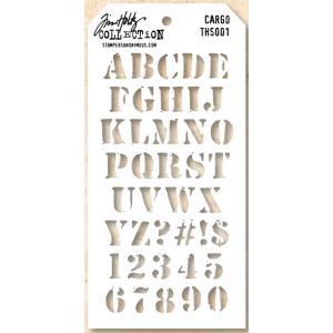 Tim Holtz Layering Stencil - Cargo [THS001]